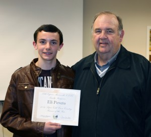 – Coach Randy Crouch introduced standout cross country runner Eli Peveto to the Board.
