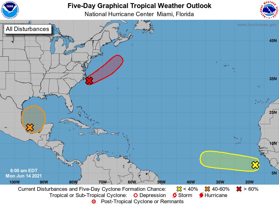 NWS Lake Charles tropical update: 7:30 a.m. 6.14.21